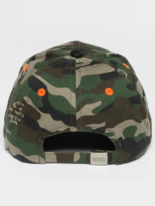 Von Dutch Snapback Cap Camo Destroyed camouflage