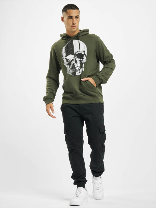 Aarhon Hoodie Skull khaki