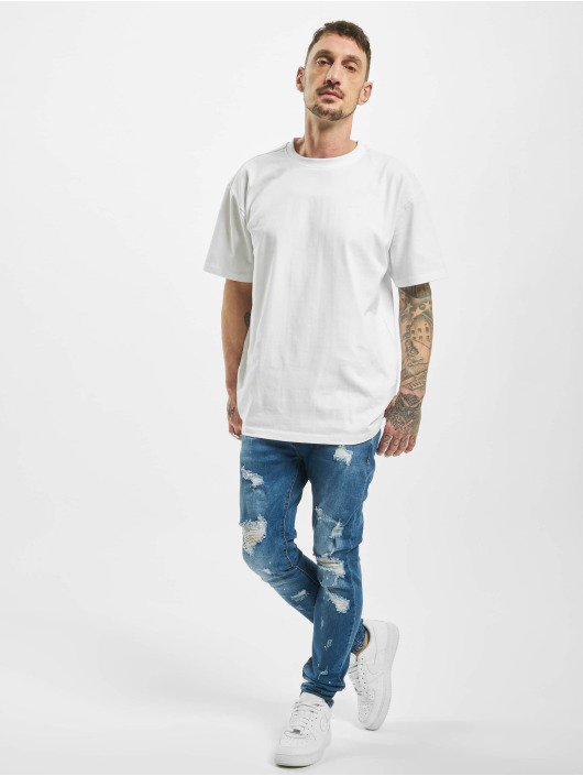 Aarhon Skinny Jeans Speckled Destroyed blue