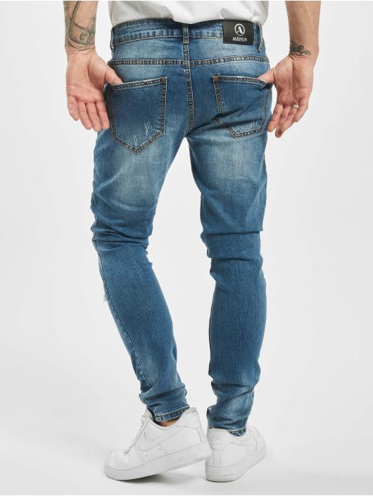 Aarhon Skinny Jeans Ripped blue