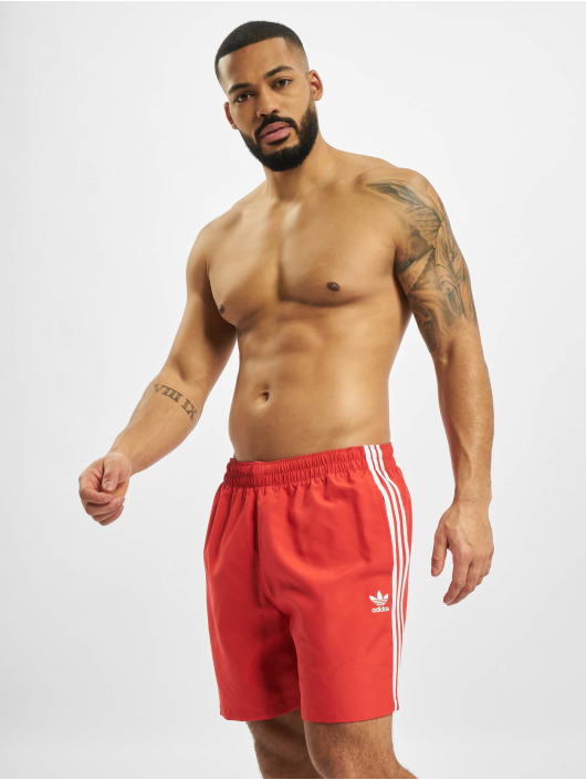 adidas Originals Badeshorts 3 Stripes Swim red