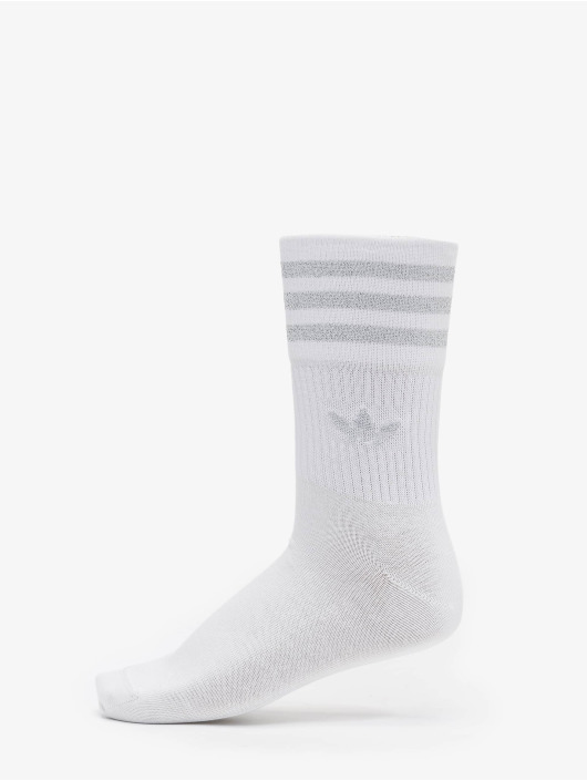 adidas Originals Socks Mid Cut Glitter white