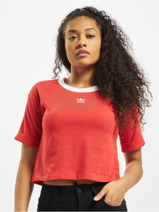 adidas Originals Top Crop red
