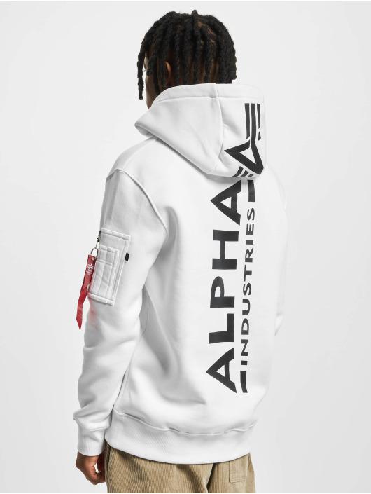 Alpha Industries Hoodie Back Print white