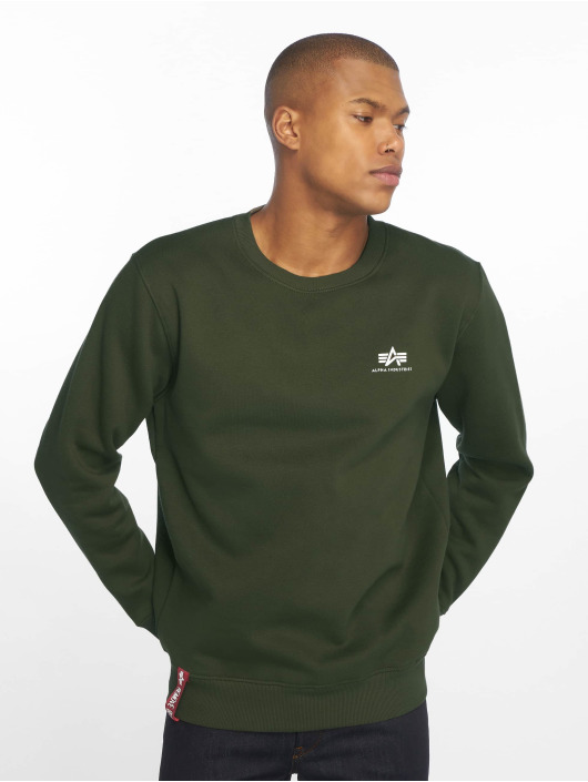 Alpha Industries Pullover Basic Small Logo green