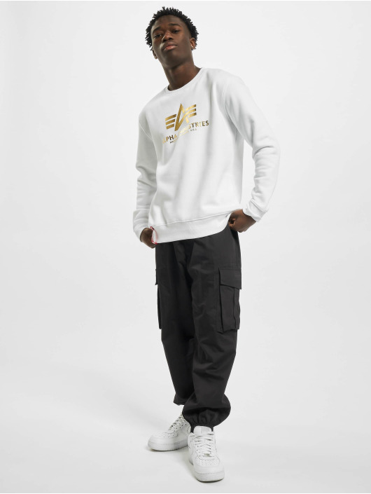 Alpha Industries Pullover Basic Foil Print white