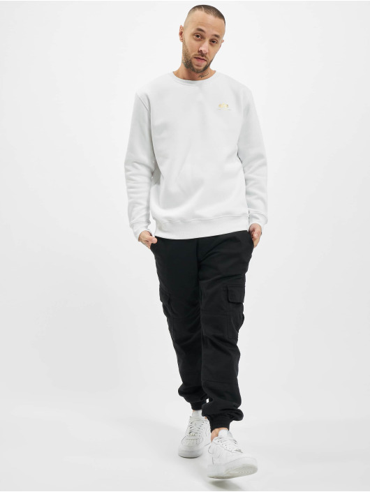 Alpha Industries Pullover Basic Small Logo Foil Print white