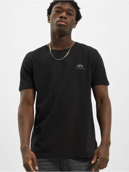 Alpha Industries T-Shirt Backprint Reflective black