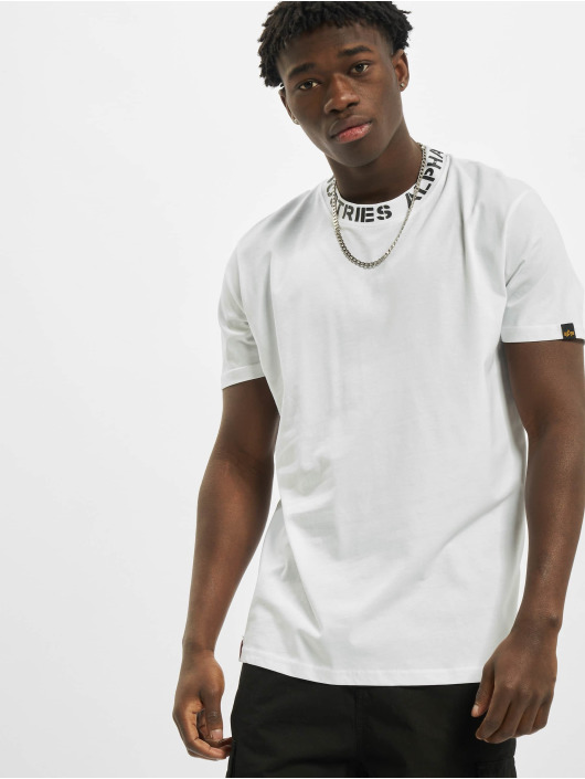 Alpha Industries T-Shirt Neck Print white