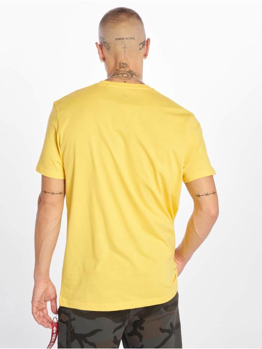 Alpha Industries T-Shirt Basic Small Logo yellow