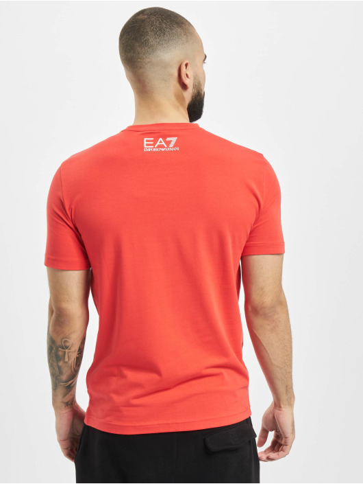 Armani T-Shirt Logo Stripe red