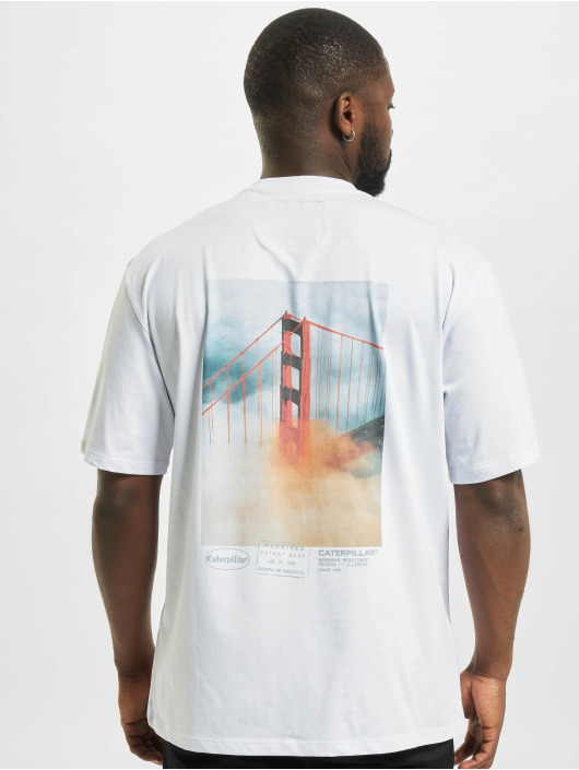 Caterpillar T-Shirt Vintage Pic white