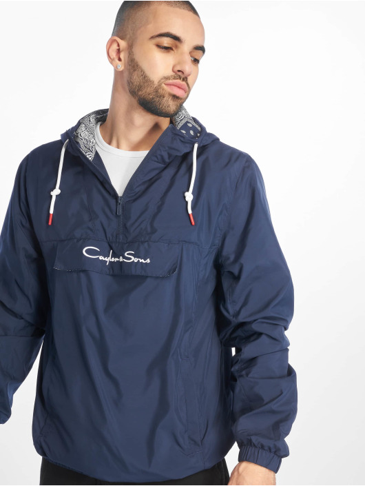Cayler & Sons Lightweight Jacket Westcoast Half Zip blue
