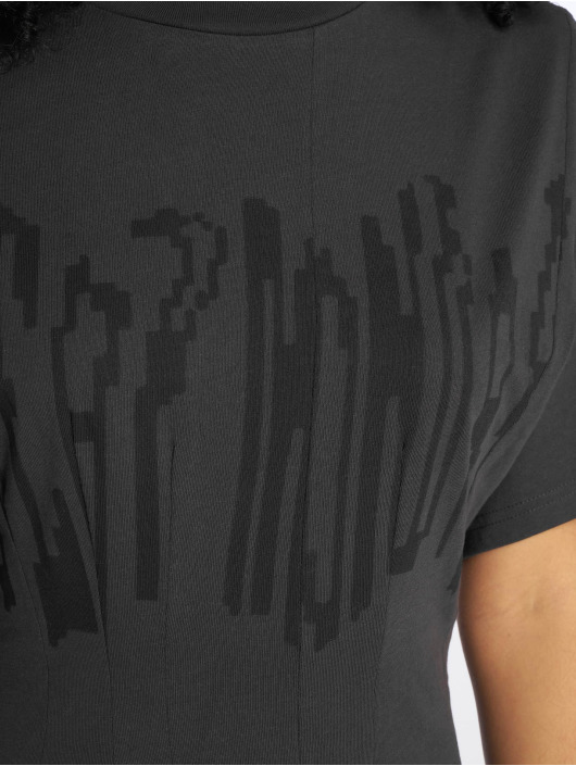 Cheap Monday Dress Conjured Defect Logo gray