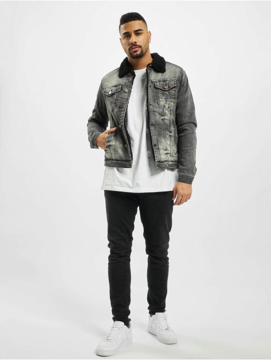 Cipo & Baxx Denim Jacket Patch gray
