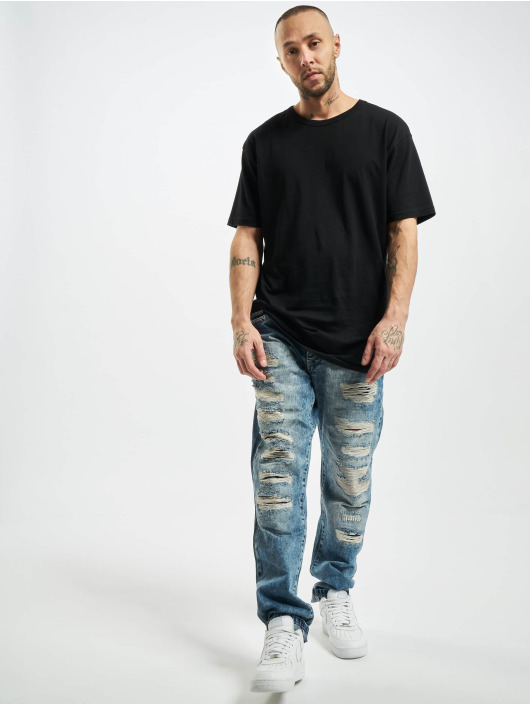 Cipo & Baxx Straight Fit Jeans Destroyed blue