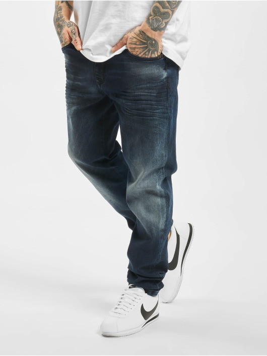 Cipo & Baxx Straight Fit Jeans Stone Washed blue