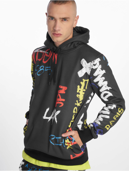Criminal Damage Hoodie Graffiti black