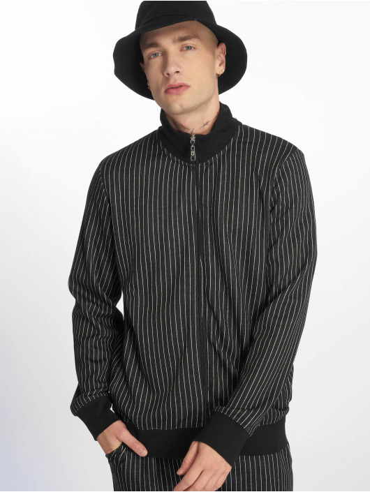 Criminal Damage Lightweight Jacket Pinstripe black