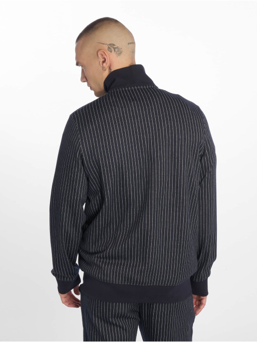 Criminal Damage Lightweight Jacket Pinstripe blue