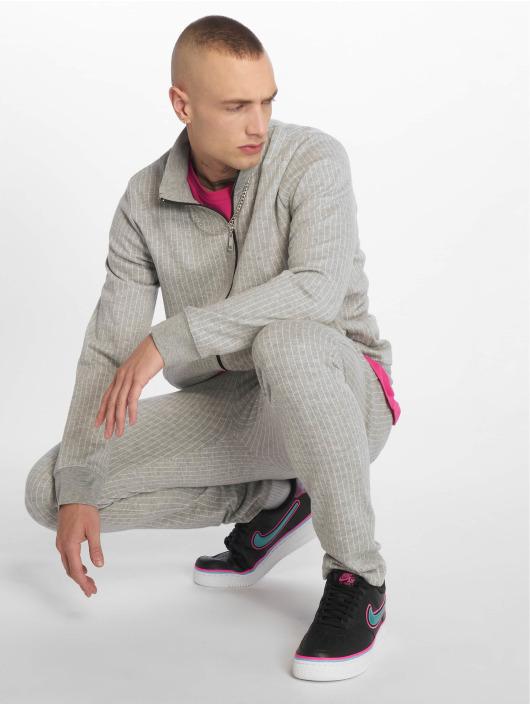 Criminal Damage Lightweight Jacket Pinstripe gray