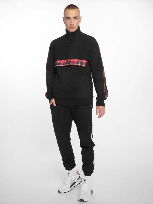 Criminal Damage Pullover Check Globe black