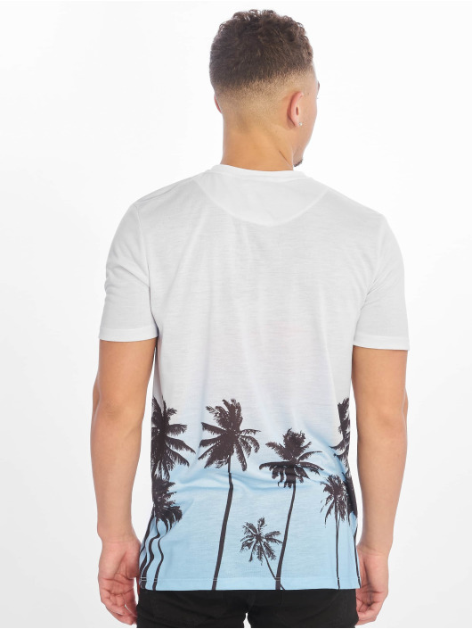 Criminal Damage T-Shirt Palm Tree blue