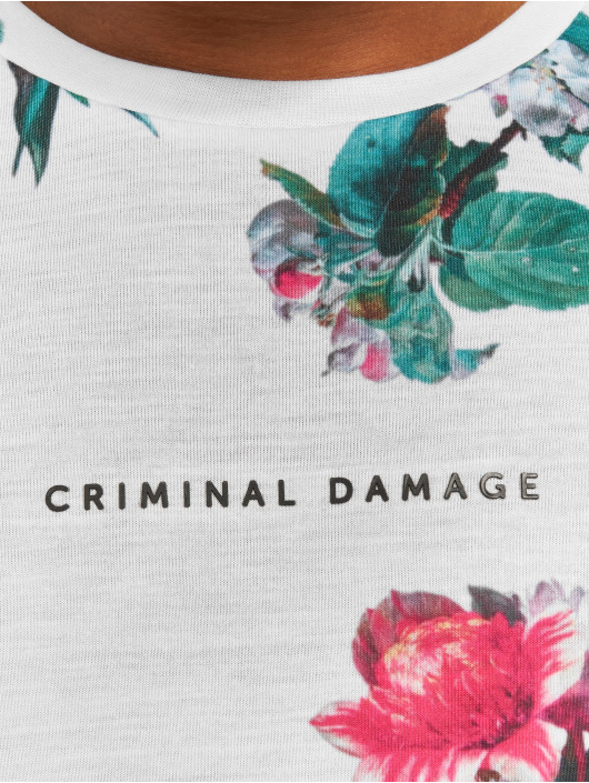 Criminal Damage T-Shirt Carpel white