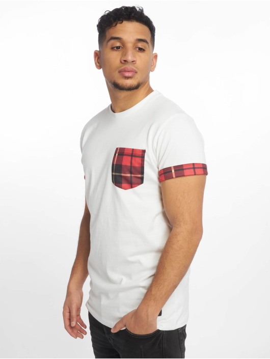 Criminal Damage T-Shirt Check Pocket white