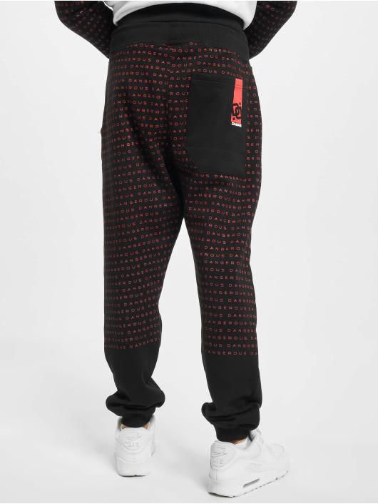 Dangerous DNGRS Sweat Pant Wordpattern black
