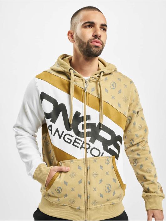 Dangerous DNGRS Zip Hoodie Bear beige