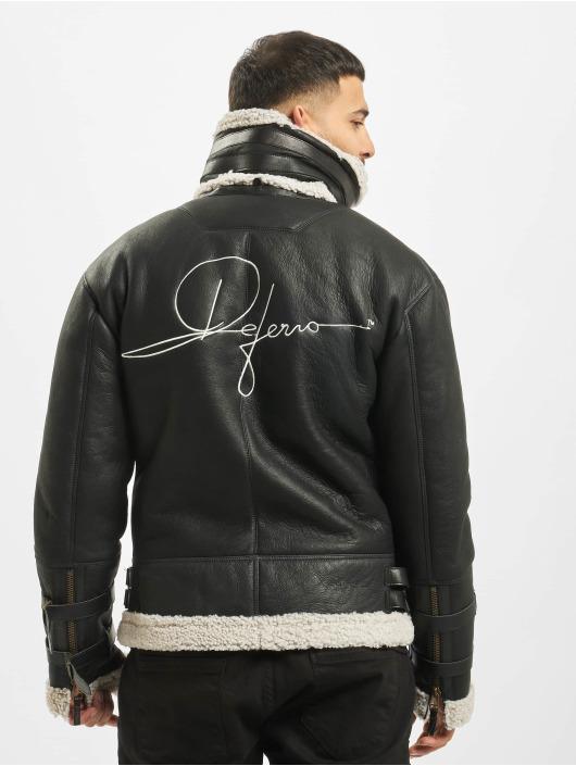 De Ferro Leather Jacket Signature black