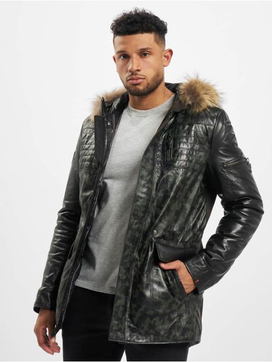 De Ferro Leather Jacket Pp Bix Fox black