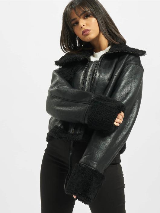 De Ferro Leather Jacket Black Lam black