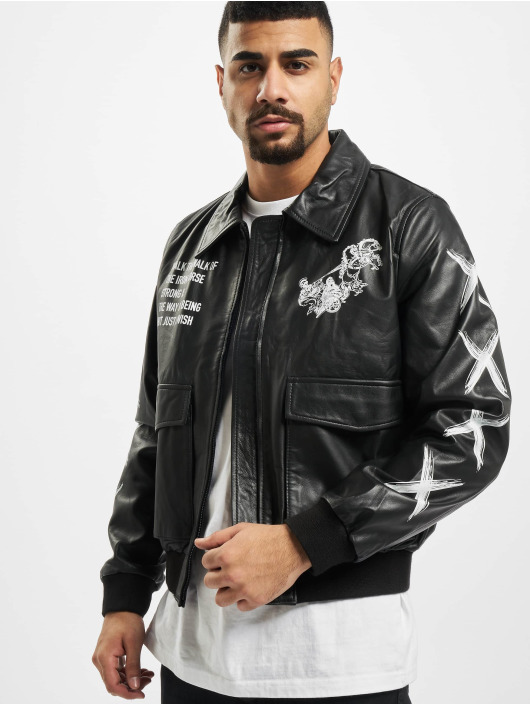 De Ferro Leather Jacket Amorous Logic black