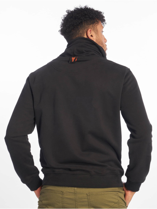 De Ferro Pullover Throat Dread black