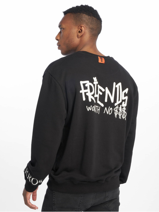 De Ferro Pullover No Money Crew black