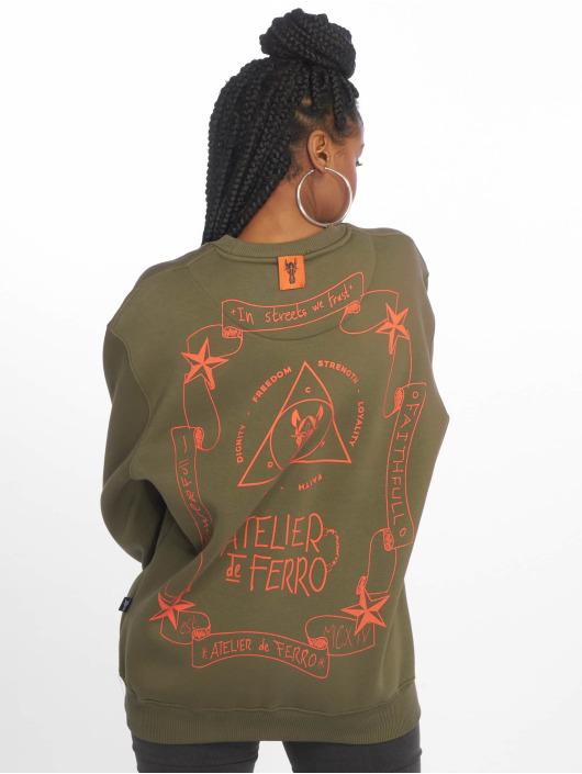 De Ferro Pullover Nature Fantasy Crew green