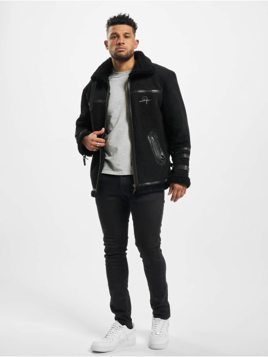 De Ferro Winter Jacket Art Lam black