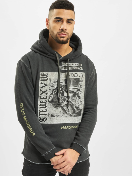 Deus Maximus Hoodie Monarch Society black