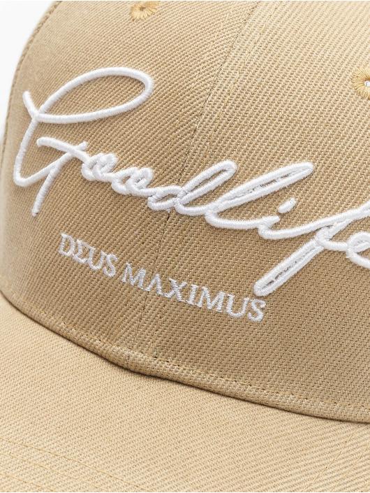 Deus Maximus Snapback Cap Goodlife beige