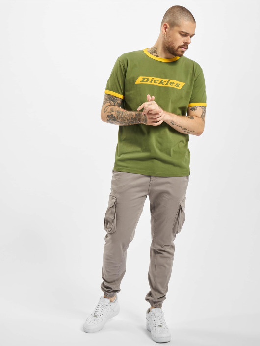 Dickies T-Shirt Bakerton Regular Ringer green