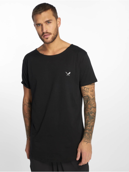 Distorted People T-Shirt Cutted Neck black