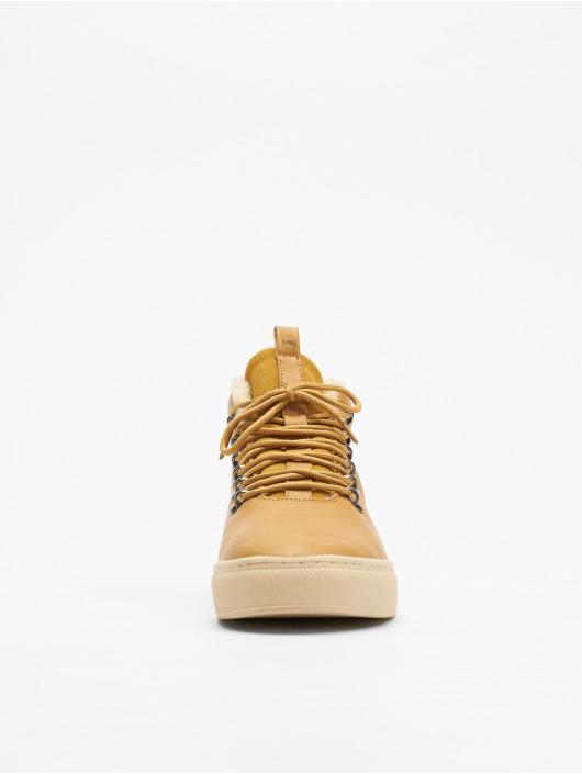 Djinns Sneakers Trek High Fur P-Leather beige