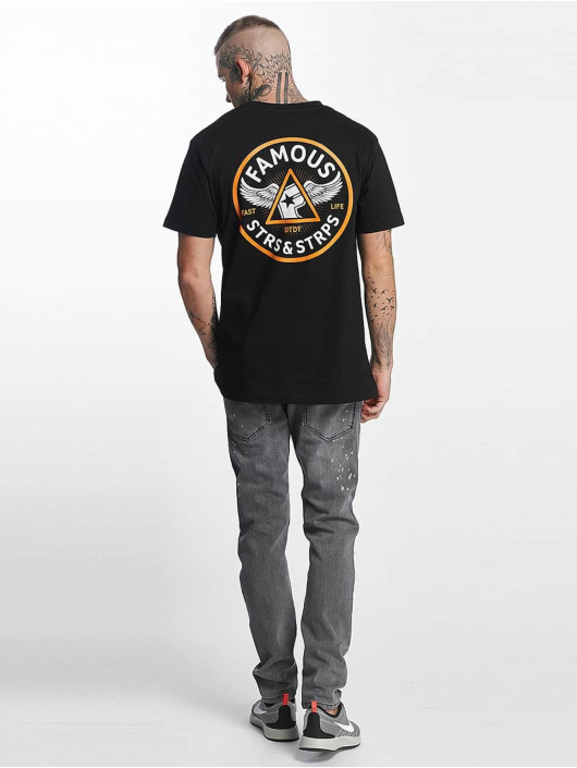 Famous Stars and Straps T-Shirt Pit Stop black