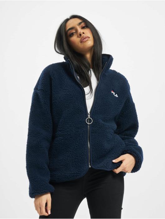 FILA Lightweight Jacket Bianco Sari Sherpa Fleece blue