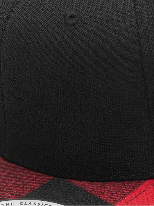 Flexfit Snapback Cap Cheched Flanell Peak black