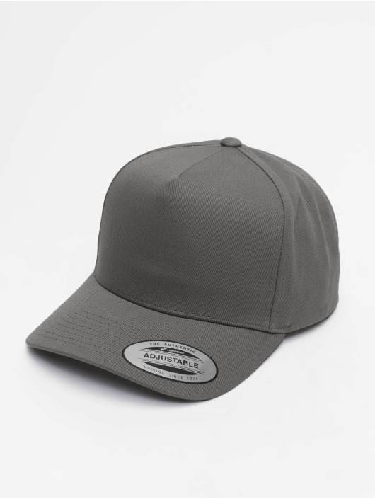 Flexfit Snapback Cap 5-Panel Curved Classic gray
