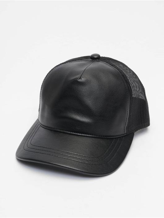 Flexfit Trucker Cap Leather black