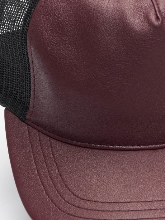 Flexfit Trucker Cap Leather red